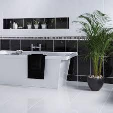 black gloss marble effect wall tiles otono tiles 400x250x8mm tiles