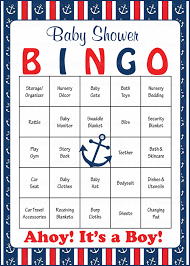 it s a boy baby shower ideas nautical baby bingo cards printable prefilled