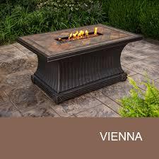 Gas Firepit Table Agio International Fp Vienna Kit Agio Vienna 32x52 Rectangular