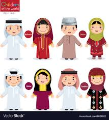 philippines traditional clothing for kids kids in different traditional costumes bahrain vector image