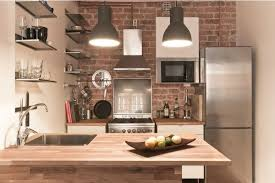 brick wall apartment tiny but trendy open space apartment featuring exposed brick