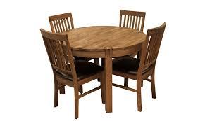 home design royal oak round extending dining table amp 4 bicast