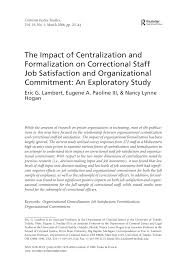 the impact of centralization and formalization on correctional