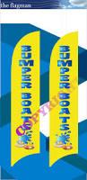 Custom Swooper Flags Bumper Boats Custom Feather Flags Poa The Flagman
