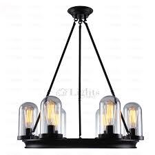 Wrought Iron Island Light Fixture 6 Light Wrought Iron Industrial Metal Pendant Lights