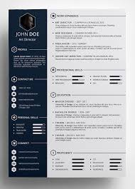 Resume Template Html Cool Resume Template 28 Free Cv Resume Templates Html Psd Indesign
