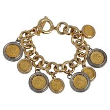 gold multi chain bracelet images Moschino quot don 39 t be late quot multi watches bracelet at 1stdibs jpg