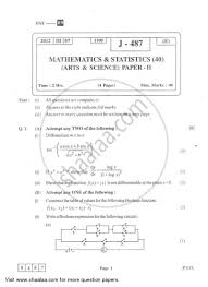 question paper mathematics and statistics 2 2011 2012 h s c