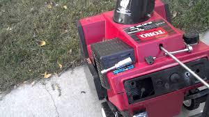 toro snow blower 2 cycle spark plug change youtube