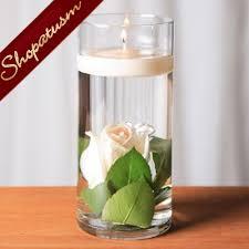 centerpiece floating candle cylinder vase candle holder 7 inch