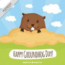 lovely groundhog groundhog vector free download