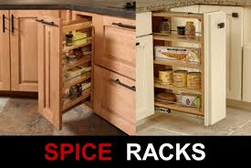 Kitchen Cabinet Organizing Kitchen Pull Out Spice Rack Pan Organizer Rack Kitchen