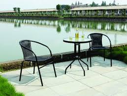 Ebay Patio Umbrellas by Mod Bstro Bwk 1 Black Wicker Bistro Sets Table Chair Patio Garden