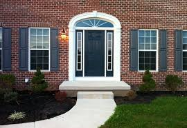 red front door on brick house image collections french door