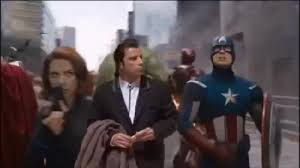 Meme John Travolta - avengers assemble with john travolta coub gifs with sound