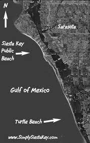 satellite map of florida satellite view of siesta key and sarasota florida siesta key