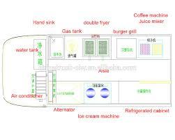 best selling food truck kitchen design 4x2 restaurant on wheels
