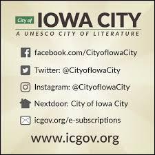 city of iowa city cityofiowacity twitter