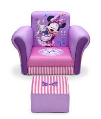 Childs Pink Armchair Amazon Com Delta Children Upholstered Chair With Ottoman Disney