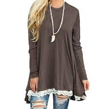tunic blouse sanifer lace sleeve tunic top blouse at amazon s