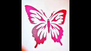 butterfly stencils using frisket film time lapse youtube