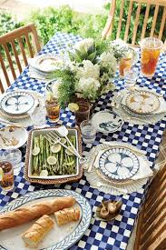 ballard designs summer 2015 collection how to decorate blue and white check table cloth with blue plates
