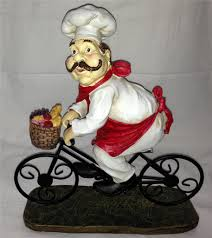 Italian Canisters Kitchen by Fat Chef French Italian Bistro Statue Jumbo Big Large Figurine