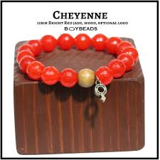 red beads bracelet images Boybeads quot cheyenne quot 12mm bright red candy jade wood bead bracelet PNG