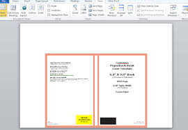 microsoft word publishing layout view how to make a full print book cover in microsoft word for