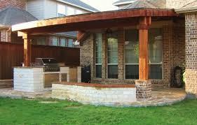 brick steps to wood porch home design ideas