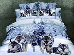 Wolf Bedding Set Cliab Wolf Bedding Set Size Wolf Print Bedding