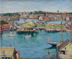 gloucester gloucester harbor by max kuehne cape ann museum an american art