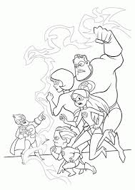 bob parr throwing boss incredibles colouring