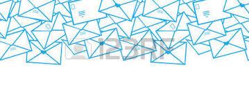 envelope border pattern vector postal letters envelopes line art horizontal seamless stock