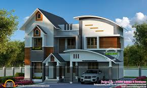 sloping curved roof mix home kerala home design bloglovin u0027
