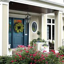 front door painted black paint color great with brown siding red