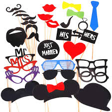 photo booth supplies 34pcs wedding photo booth props mustache on stick photobooth props