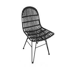 Esszimmerstuhl Rattan Leder Schwarz Esszimmerstühle Und Weitere Stühle Günstig Online