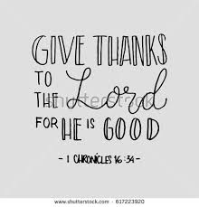 give thanks lord he stock vector 617223920