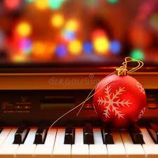 ornament on piano stock photo image 46385098