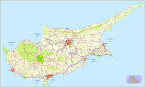 Map Of The Mediterranean Cyprus Map