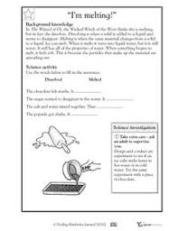 3rd grade 4th grade science worksheets reversible changes
