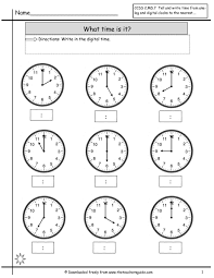 Second Grade Math Practice Worksheets Time To The Nearest Minute Worksheets Abitlikethis Math Telling Sl