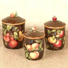 canister kitchen european fruit kitchen canister set endearing enchanting decor