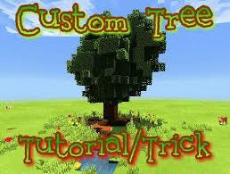 easy custom trees trick tutorial minecraft amino