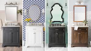 bathroom powder room ideas powder room vanity modern bathroom cleveland by pertaining to