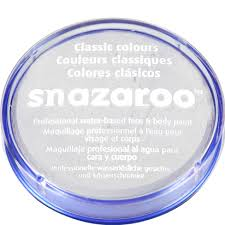 Snazaroo Light Grey Snazaroo White Face Paint 18ml Woodiespartyzone Ie