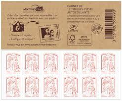 timbre bureau de tabac carnet de 12 timbres marianne couverture montimbramoi