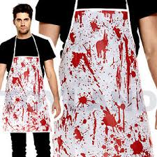 Bloody Nurse Halloween Costume Blood Splatter Bloody Apron Halloween Costume Prop Butcher Nurse
