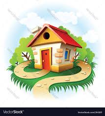 fairytale house royalty free vector image vectorstock